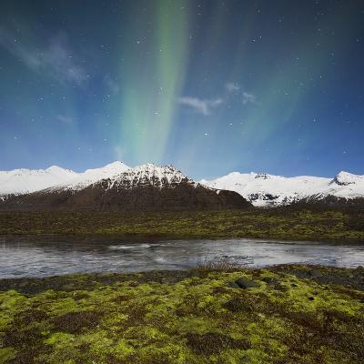 Aurora Borealis, Hafrafell, Skaftafell, South Iceland, Iceland