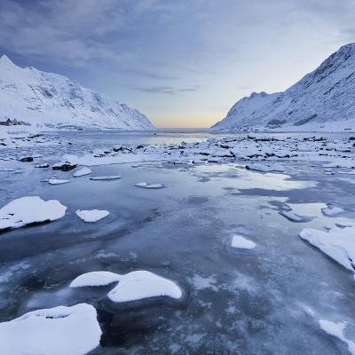 Indre Skjelfjorden, Flakstadoya (Island), Lofoten, 'Nordland' (County), Norway
