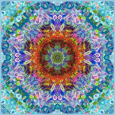 A Flower Mandala, Photographic Layer Work from a Painting
