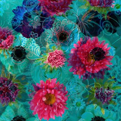 A Floral Montage from Blossoms and Drawing