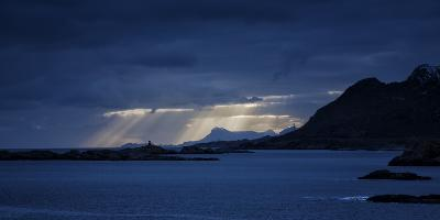 Dramatic Light Mood, to Pure Fjords, Moskenes, Lofoten, Norway