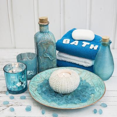 Still Life with Turquoise Objects, Symbol Wellness