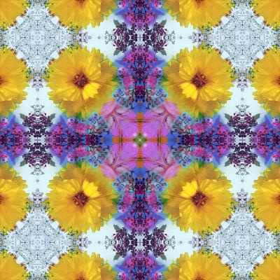 A Symmetric Ornament from Flowers, Photograph, Layer Work