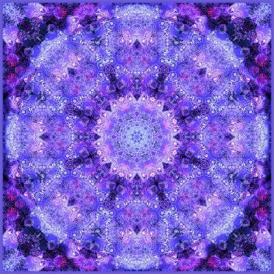 Filigree Mandala Ornament from Flower Photographs, Multiple Layer Work