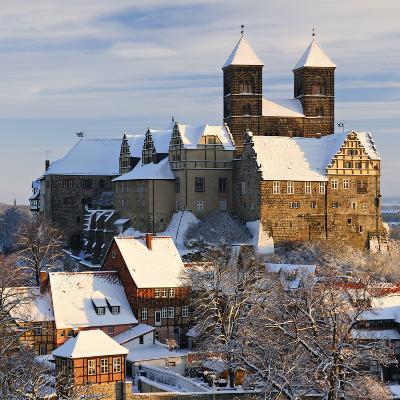 Germany, Saxony-Anhalt, Quedlinburg, Winter