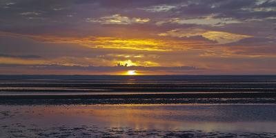 Sunrise in the Mudflat, Close to List (Municipality), Sylt (Island), Schleswig-Holstein, Germany