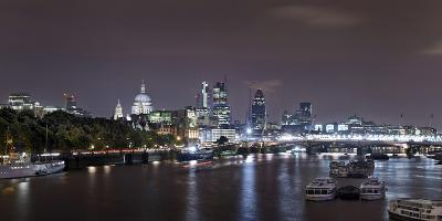 Panorama, City of London, St Paul's Cathedral, Anglican Cathedral, the Thames