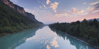 Austria, Carinthia, Drau Near AnnabrŸcke, Clouds, Mirroring
