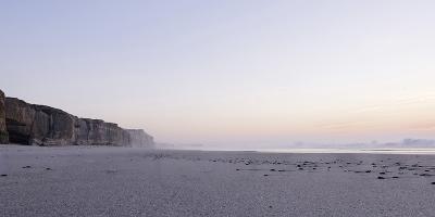 Portuguese Atlantic Coast, Salty Foam after Sunset, Praia D'El Rey, Province Obidos, Portugal