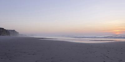 Sunset at the Portuguese Atlantic Coast, Praia Do Bom Sucesso, Province Obidos