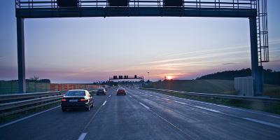 Austria, Upper Austria, Highway, Sundown