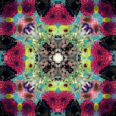 Symmetric Ornament from Flowers, Conceptual Photographic Layer Work