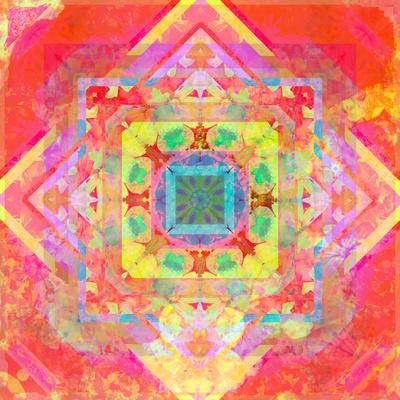 Photomontage of Geometrical Samples with Flowers, Conceptual Layer Work
