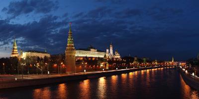 Moscow, Panorama, Moscow, Kremlin, Evening