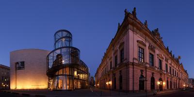 Berlin, Unter Den Linden, Zeughaus (Arsenal), German Historical Museum, Pei-Bau, Panorama, Evening