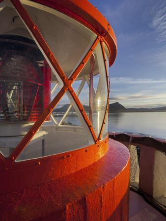 Light in the Lighthouse of Akranes (Town), West Iceland, Iceland