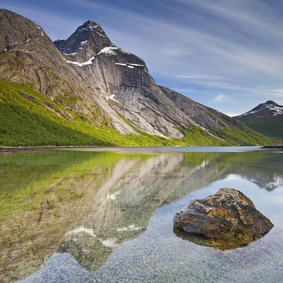 Norway, Nordland, Tysfjord, Stefjordbotn, Stetind, Stefjord