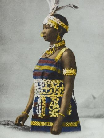 Sudanese Woman in Traditional Costume
