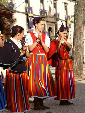 Three Camacha Girls, Funchal, Madeira