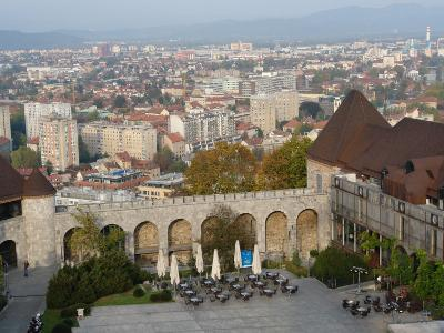 View of the City of Ljubljana, Slovenia, from the Inner Court of the Castle