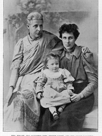 Annie Besant with Her Daughter and Granddaughter