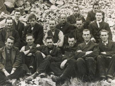 Conscientious Objectors Doing Hard Labour, Breaking Rocks in Prison During World War I