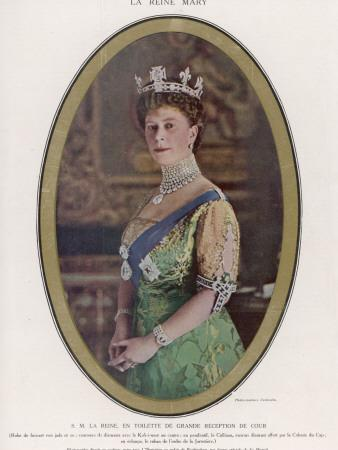 Mary, Queen of George V, Wearing a Crown with the Koh-I-Noor Diamond Set in the Centre