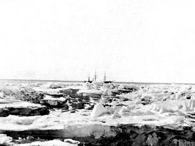 Discovery' in the Pack Ice, Antarctica, 1902