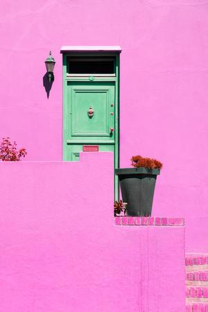 Awesome South Africa Collection - Colorful Houses - Hot Pink Wall