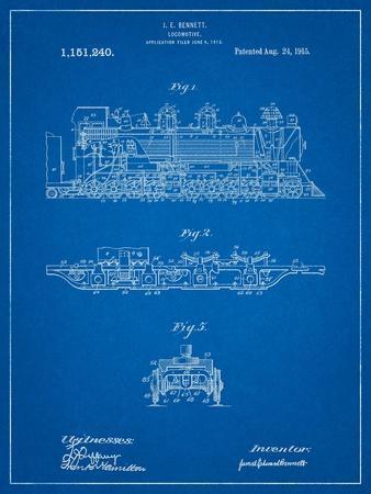 Steam Locomotive 1915 Patent