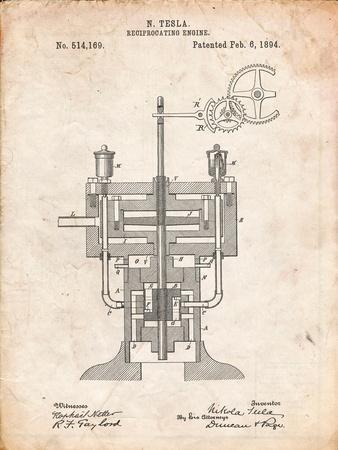Tesla Reciprocating Engine