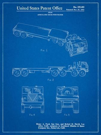 Lockheed Ford Truck and Trailer Patent
