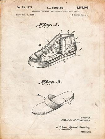 Basketball Shoes 1968 Patent