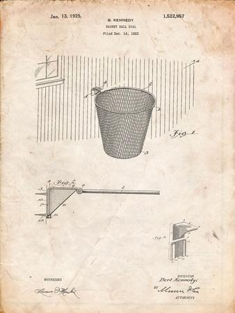 Basketball Goal Patent Print