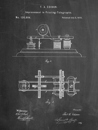 Edison Printing Telegraph Patent Art
