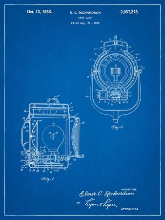 Vintage Movie Set Light Patent
