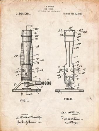 Bunsen Burner 1921 Patent