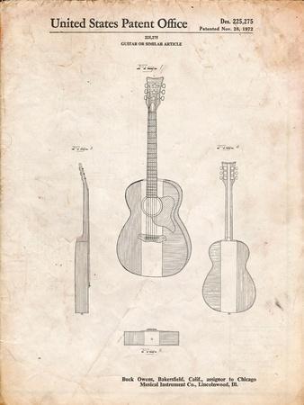 Buck Owens American Guitar Patent