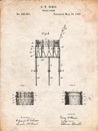 Bemis Marching Snare Drum and Stand Patent