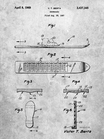 Berta Magnetic Boot Snowboard Patent
