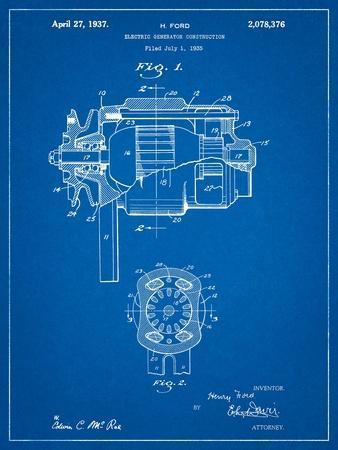 Ford 1935 Dc Generator Patent
