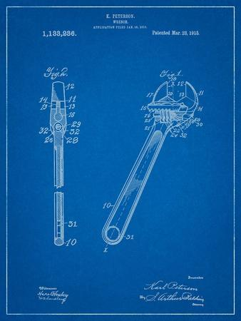 Crecent Wrench 1915 Patent