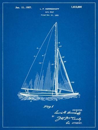 Herreshoff R 40' Gamecock Racing Sailboat Patent