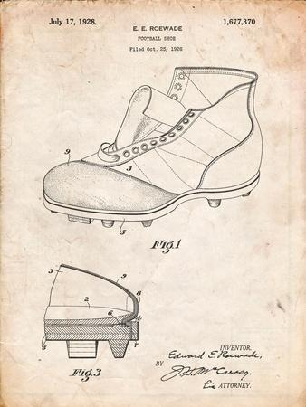 Football Cleat 1928 Patent