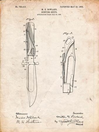 Folding Hunting Knife 1902 Patent