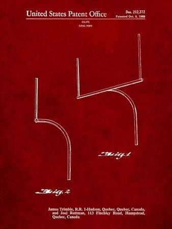 Football Goal Post Patent Print