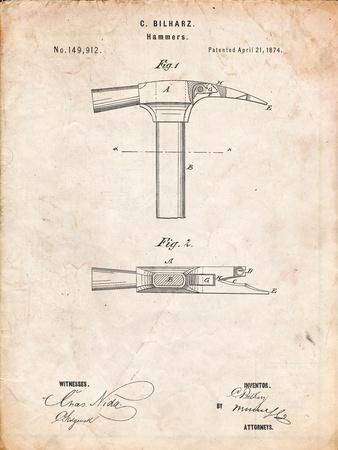 Claw Hammer 1874 Patent
