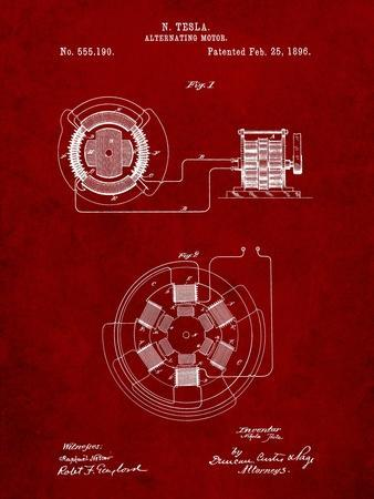 Tesla Alternating Motor Patent