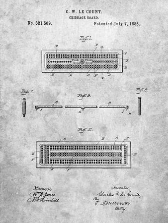 Cribbage Board 1885 Patent