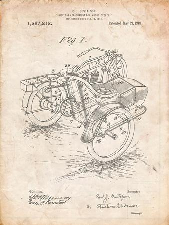 Motorcycle Sidecar 1918 Patent